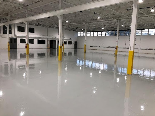 Clean empty facility with low ceilings